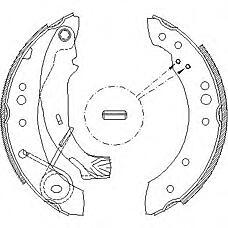 ROADHOUSE 414900 (4241L7 / 4241L0) колодки торм. бараб.