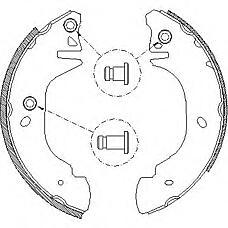 ROADHOUSE 430500 (6579150 / 92VB2200AB) колодки торм.барабанные