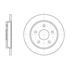 ROADHOUSE 614700 (5022949 / 6158215 / 1630012) диск тормозной