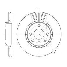ROADHOUSE 617410 (569046 / 569055 / 90421727) диск торм.вент. Astra (Астра) vectra tigra