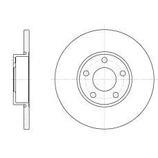 ROADHOUSE 632700 (4A0615301B / 4AO615301B / 230263) диск тормозной