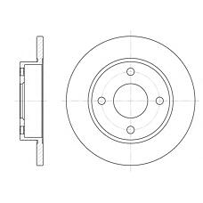 ROADHOUSE 642700 (1E0333251 / 1013581 / 1112542) диск тормозной Ford (Форд) Fiesta (Фиеста) 96-01