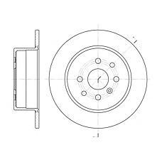 ROADHOUSE 645400 (569209 / 90512909 / 569117) диск тормозной