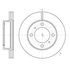 ROADHOUSE 653910 (4351212550 / 4351202040 / 94854148) диск тормозной