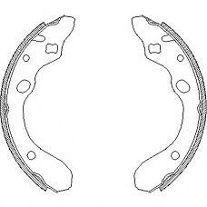 REMSA 4147.00 (B5Y62638ZA / BCYD2638Z / B2YD2638Z) колодки барабанные\ Mazda (Мазда) 323 1.3i-2.0d 91-98