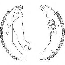 REMSA 4185.01 (6978969 / 7166588 / 6183876) колодки барабанные\ Ford (Форд) Fiesta (Фиеста) 1.1-1.8d 89-95 с рычажком и ремкомплектом