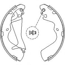 REMSA 4215.00 (583054AA00 / MB950065 / SB000102) колодки барабанные\ Hyundai (Хендай) h1 2.4i / 2.5d / td / crdi 97>