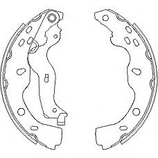 REMSA 4227.00 (5320079J00 / 71742832 / 71747587) колодки барабанные\ Fiat (Фиат) sedici 1.6 / 1.9d, Suzuki (Сузуки) sx4 1.6 / 1.9ddis 06>