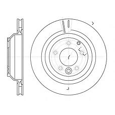 REMSA 6130210 (7L8615601D / 95535240150 / 7L8615601A) диск тормозной