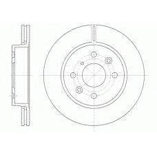 REMSA 6523.10 (0K20A33251 / 0K20A33251A / 0K2AA33251A) диск тормозной передний\ Kia (Киа) Sephia (Сефия) 1.5-1.8 95>