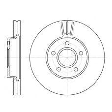 REMSA 671010 (1320352 / 1223663 / 1373369) диск тормозной