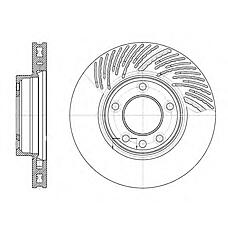 REMSA 677311 (95535140240 / 7L6615302D / 7L6615302N) диск тормозной