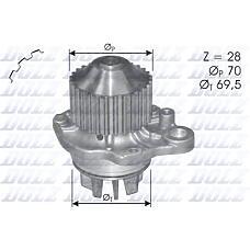 DOLZ C-121 (1201C7 / 1201A6 / 9640344280) насос водяной