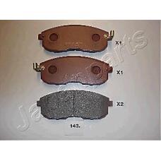 JAPANPARTS pa143af (4106040U90 / D1060EM10A / D10601KA1A) колодки передние дисковые Nissan (Ниссан) maxima