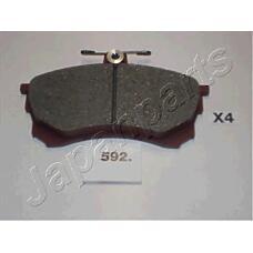 JAPANPARTS pa592af (MR249240 / MR407944 / MR389519) колодки пер.диск.Mitsubishi (Мицубиси) Carisma (Каризма) 1 6 95->