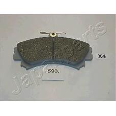 JAPANPARTS pa593af (MR407946 / 3345670 / MR235557) колодки пер.диск.Mitsubishi (Мицубиси) Carisma (Каризма) 1 8 95->