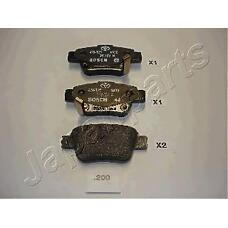 JAPANPARTS pp200af (0446605010 / 446605010) колодки торм диск