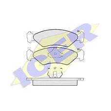 ICER 180776 (6188427 / 1064762 / 1013843) колодки дисковые передние \ Ford (Форд) Fiesta (Фиеста) 1.1-1.8i / d 89-97