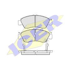 ICER 180958 (45022SR3G00 / 45022S04G00 / 45022SR3G01) колодки дисковые передние \ Honda (Хонда) Civic (Цивик) 1.3i-1.6i &16v 91-01