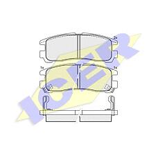 ICER 180981 (MB857336 / MR389578 / MB534653) колодки дисковые задние \ Mitsubishi (Мицубиси) galant 1.8-2.5 / 2.0td / gdi 92-00 / Eclipse (Эклипс) 95>