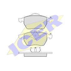 ICER 181139 (7M0698151 / 1031843 / 1001095) колодки дисковые передние\ VW sharan, Ford (Форд) Galaxy (Галакси) 1.8 / 2.8 / 1.9tdi 95-00