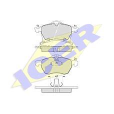 ICER 181248 (1605957 / 1605035 / 1605009) колодки дисковые передние \ Opel (Опель) Astra (Астра) g 1.8i-2.2i / tdi &16v 98>