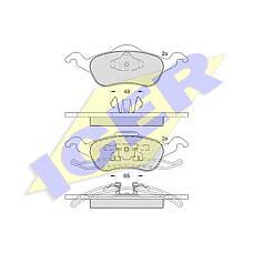ICER 181264 (1075558 / 1136519 / 1151049) колодки дисковые передние \ Ford (Форд) Focus (Фокус) 1.4i-2.0i / 1.8tdi &16v 98>