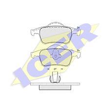 ICER 181298 (30648382 / 8634925 / 272399) колодки дисковые задние \ Volvo (Вольво) s80 98> / s60 / v70 00> / c70 97-00 / xc70 2.5d5 02>