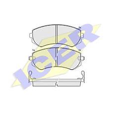 ICER 181300 (410603N390 / 410602N290 / 410602N390) колодки дисковые передние \ Nissan (Ниссан) Almera (Альмера) 1.4i-2.0d 96>