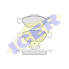 ICER 181343 (1101464 / 1101462 / 1128463) колодки дисковые передние \ Ford (Форд) Fiesta (Фиеста) 1.3-1.6 / 1.4tdci / 1.8di 00>