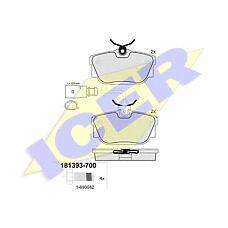ICER 181393-700 (7D0698451F / 7M3698451D / 1205697) колодки дисковые з.\ Ford (Форд) galaxy, Seat (Сеат) alhambra, VW Sharan (Шаран) 1.8-2.8i / d 90-10