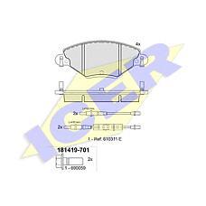 ICER 181419-701 (425248 / 425288 / 425215) колодки дисковые передние \ Citroen (Ситроен) c5 2.0i 16v / 2.0hdi 00>