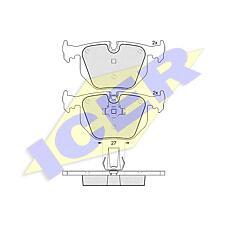 ICER 181549 (34211164581 / 34216761248 / 34211164582) колодки дисковые задние \ BMW (БМВ) e38 2.8 / 4.0 / 5.0 / 2.5tds / 3.0d 95-01 / e46 m3 3.2 00>