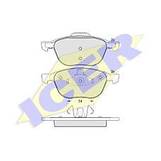 ICER 181617 (1321517 / 1223682 / BPYK3323ZA) колодки дисковые передние\ Ford (Форд) Focus (Фокус) c-max 1.6i-2.0tdci, Mazda (Мазда) 3 1.4i-2.0crdt 03>