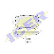 ICER 181674-204 (8E0698451C / 4F0698451F / 4B3698451) колодки дисковые задние\ Audi (Ауди) a4 s4 quattro 4.2 03-04