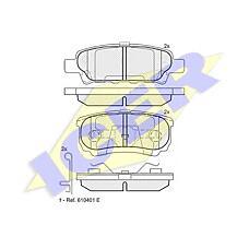 ICER 181746 (MN116929 / MR955068 / 4605A336) колодки дисковые задние\Mitsubishi (Мицубиси) Outlander (Аутлендер) 2.0mpi / 2.4i 03>