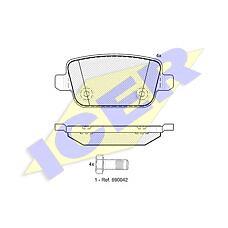 ICER 181801 (1477803 / 1459408 / 1566234) колодки дисковые задние \ landrover Freelander (Фрилендер) 2 2.2td4 / 3.2 06>