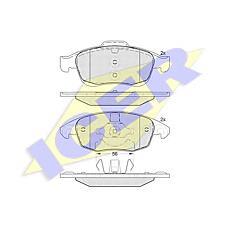 ICER 181852 (425361 / 425425 / 425412) колодки дисковые передние \ Citroen (Ситроен) c4 Picasso (Пикасо) 1.6hdi / 1.8i 06>