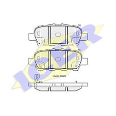 ICER 181901 (D40609N00A / 5580077K00 / D4M609N00A) колодки дисковые задние\ Nissan (Ниссан) Maxima (Максима) 3.5 08>