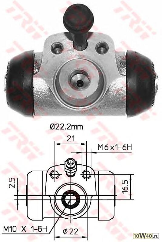 Цилиндр тормозной задний VW Caddy/Skoda Felicia