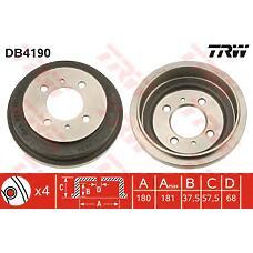 TRW DB4190 (4320650Y10) барабан тормозной Nissan (Ниссан) Almera (Альмера) n15 компл.