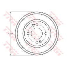 TRW DB4401 (584111C300) барабан тормозной Hyundai (Хендай) Getz (Гетц) 02- 1 шт (min 2 шт)