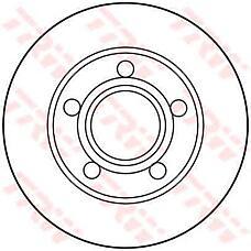 TRW DF2655 (895615601A) диск торм. Audi (Ауди) 80q >96 задн.не вент. . 1 шт (min 2 шт)