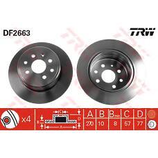 TRW DF2663 (569102 / 90297932 / 561589J) диск тормозной