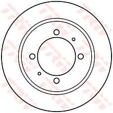TRW DF4082  диск торм. Mitsubishi (Мицубиси) Carisma (Каризма) / Space star (Спейс стар) 97- / Volvo (Вольво) s40 95- задн. 1 шт (min 2 шт)