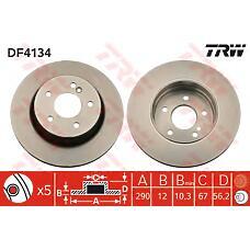 TRW DF4134 (2104230512) диск тормозной задний\ mb w210 2.0-3.2cdi 93-03