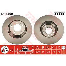 TRW DF4460 (34116764645) диск торм. BMW (БМВ) 1 / 3 / x1 e81 / e90 / e84 2.0 / 2.5 / 3.0 перед. вент. 1 шт (min 2 шт)
