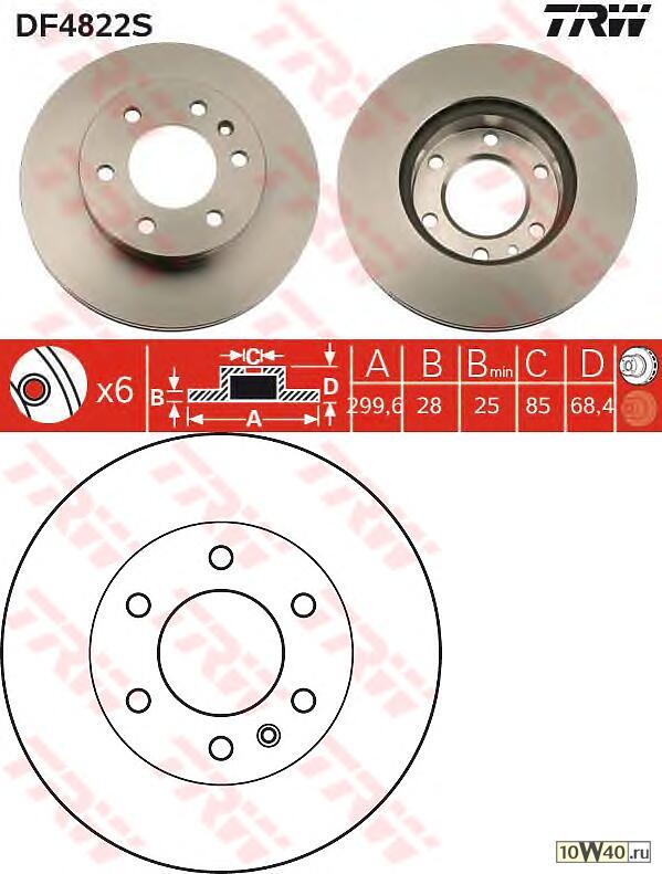 диск торм. пер. \ mb sprinter, VW crafter 06>