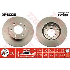 TRW DF4822S (9064210012 / 2E0615301 / A9064210012) диск торм. пер. \ mb sprinter, VW crafter 06>