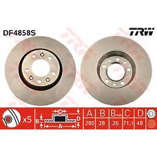 TRW DF4858S (424920) диск тормозной Peugeot (Пежо) передний